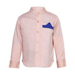 A Little Fable Blush Stretch Shirt