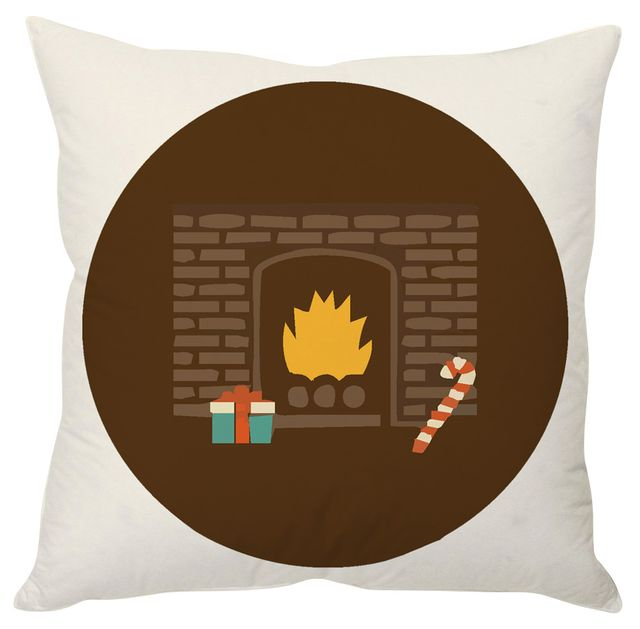StyBuzz Christmas fireplace cushion cover