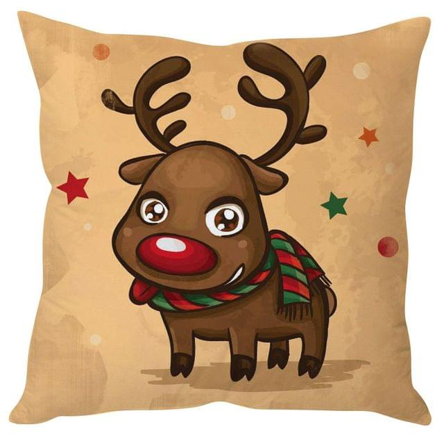 StyBuzz cute reindeer Christmas cushion cover