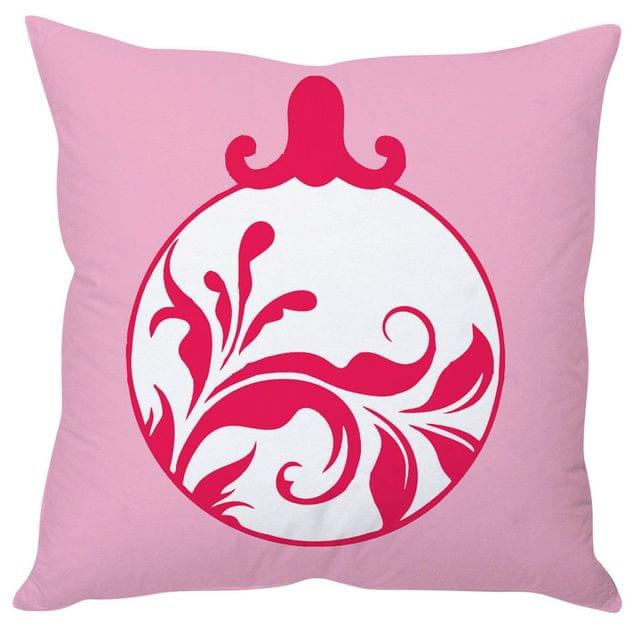 StyBuzz pink ball Christmas cushion cover