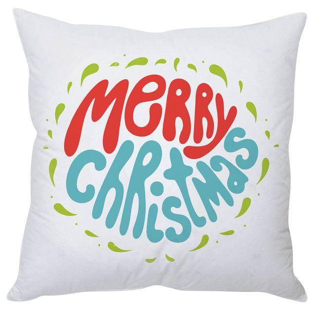 StyBuzz merry Christmas white cushion cover