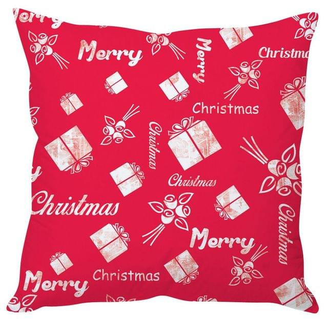 StyBuzz pink Christmas cushion cover