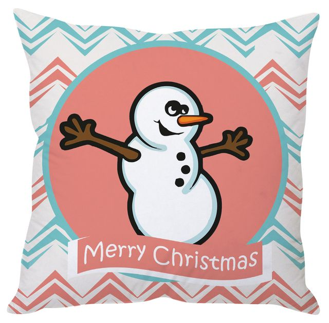 StyBuzz cute snowman Christmas cushion cover