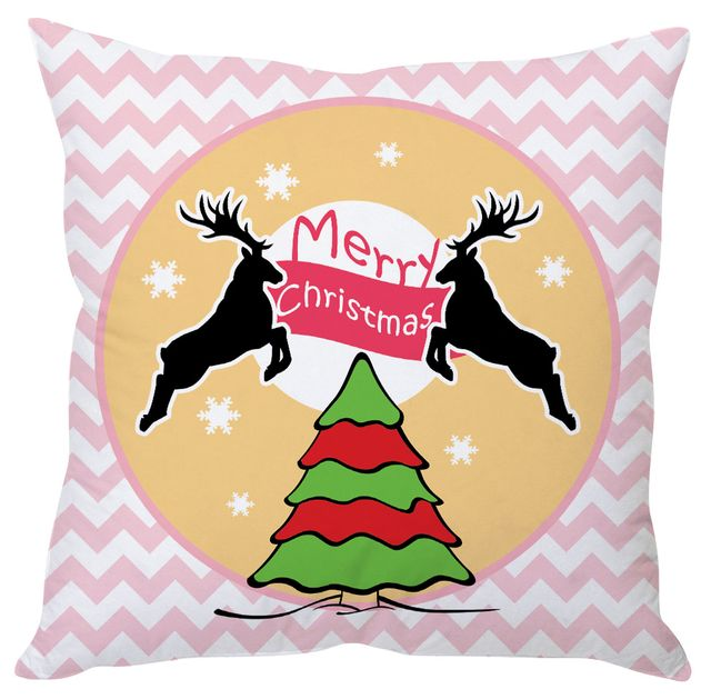 StyBuzz Aztec merry Christmas cushion cover