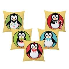 StyBuzz cute Christmas cushion cover- SET OF 5