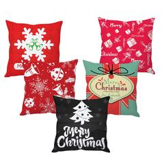StyBuzz merry Christmas cushion cover- SET OF 5
