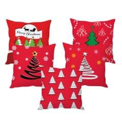 StyBuzz Christmas tree art cushion cover- SET OF 5