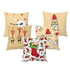 StyBuzz Santa Christmas cushion cover- SET OF 5