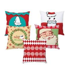 StyBuzz Santa art Christmas cushion cover- SET OF 5