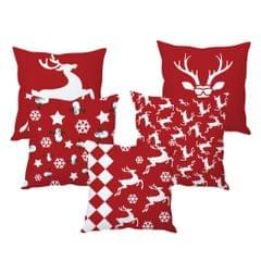 StyBuzz red Christmas cushion cover- SET OF 5