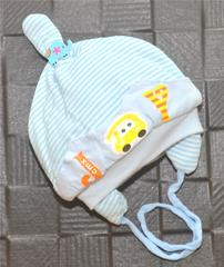 Lullabuy- Cute Blue Stripped Cap With Ears