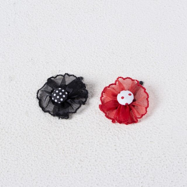 Funkrafts Hair Clip Combo - Red and Black