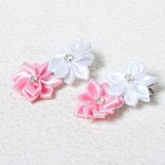 Funkrafts Flower Hair Clip - Pink/White