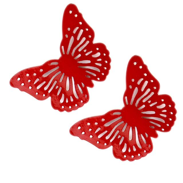 Deziworkz Butterfly Fridge Magnet (3 Inches, Set of 2)