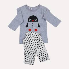 Lullabuy-2pc Penguin printed Night Suit