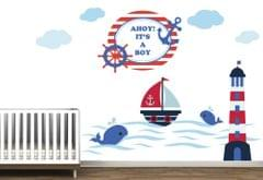 Little Jamun - Medium size- Welcome baby girl wall decal/ sticker