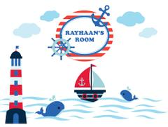 Little Jamun-Personlised large size wall stickers - Nautical