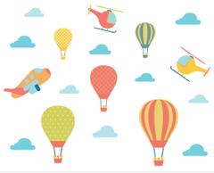 Little Jamun-Wall decals / Stickers - Large size - Hot air balloon