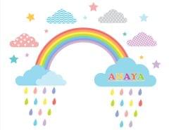 Little Jamun-Personlised large size wall stickers - The rainbow bright and beautiful