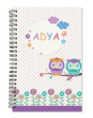 Little Jamun-Personalised spiral notebook - Owl