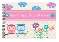 Little Jamun-Personalised Sketchbook - Owls