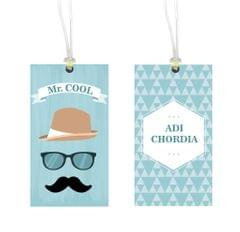 Little Jamun - Personalised bag tag, set of 2-  Mr cool