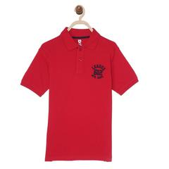 612 League Boys RED 100% COTTON BASIC POLO