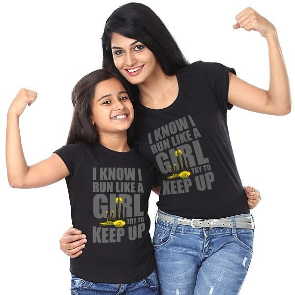 I Know I run like a girl Tee - (pack of two)