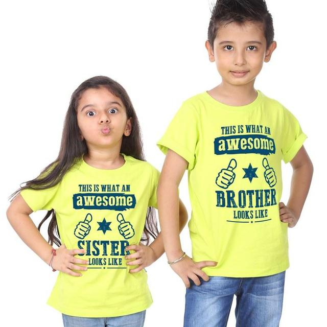 Awesome Sister & Brother Tees-For Kids