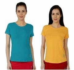 Red Ring Women's Sporty T-Shirt-Pack Of 2-Multi Colour