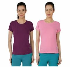 Red Ring Women's Sporty T-Shirt-Pack Of 2-Purple/Pink