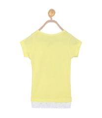 612 League Girls Yellow Cotton R- Neck Tee