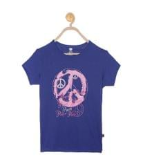 612 League Girls Royal  Cotton R- Neck Tee 14D