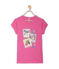 612 League Girls Dark Coral Cotton R- Neck Tee 15D