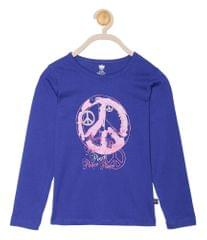 612 League Girls Royal  Cotton R- Neck Tee 24D