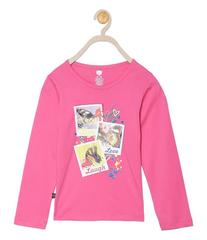 612 League Girls Dark Coral Cotton R- Neck Tee 25D