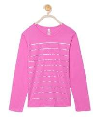 612 League Girls Fuschia Cotton R- Neck Tee 26D