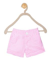 612 League Girls Neon Pink Check Bottom 05D