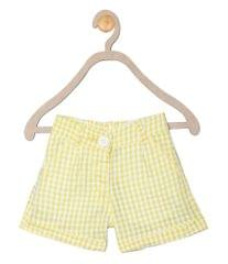 612 League Girls Yellow Cotton Check Bottom