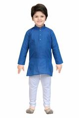 Shree Shubh Boy's Ethnic Kurta Payjama Set-Blue
