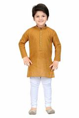 Shree Shubh Boy's Ethnic Kurta Payjama Set-Brown