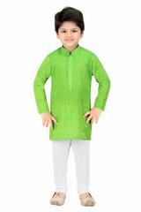 Shree Shubh Boy's Ethnic Kurta Payjama Set-Green