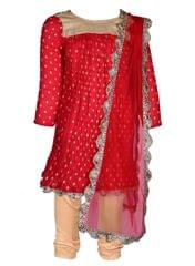 COLOR PUNCH RED KURTA
