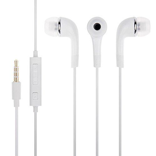 Samsung Galaxy A5 Compatible Earphone / Handsfree with 3.5mm jack - White