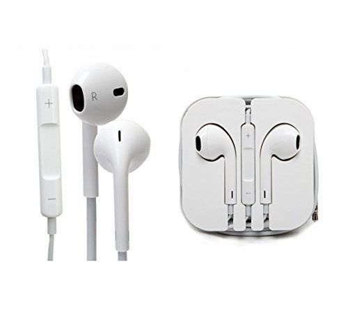 Apple iPhone 4/4s/5/5s/6/6+ Earphones EarPods Handsfree Headphones (White)