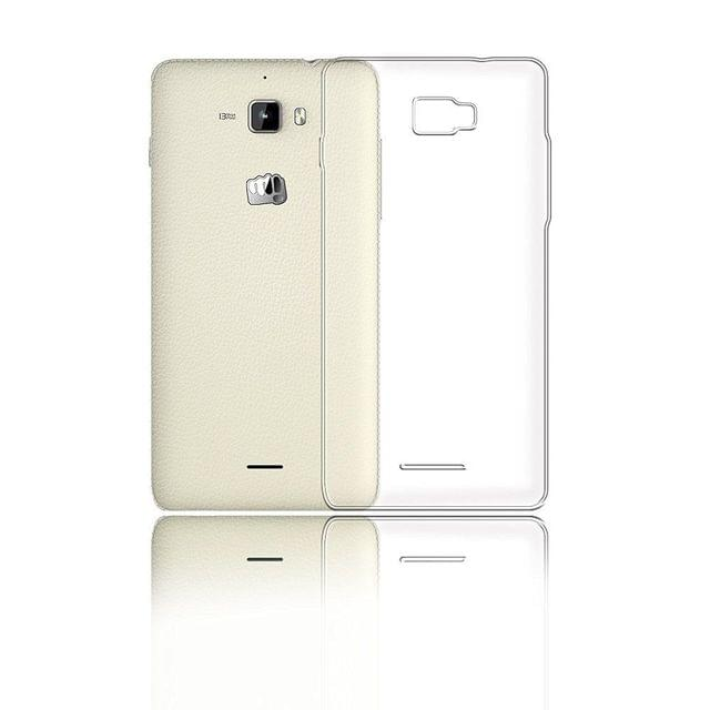 Micromax  Canvas Nitro 2 Perfect Fitting High Quality 0.3mm Ultra Thin Transparent Silicon Back Cover