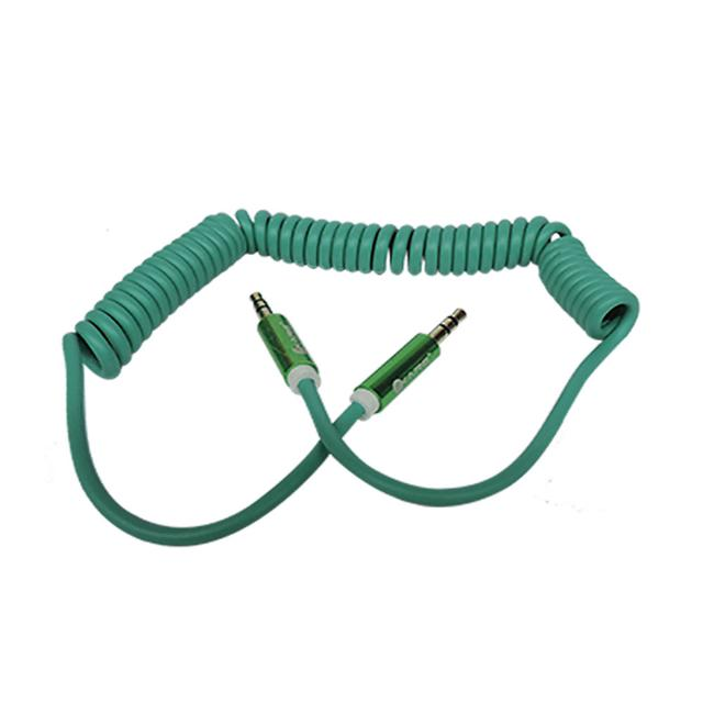 Ikare rounded Car Aux Audio Cable for iPhone/iPod/iPad/mp3/mp4/phone/Tablet PC-Green