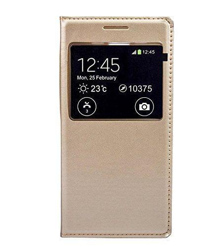 Samsung Galaxy On7 Leather Window Flip Stand Back Case Cover