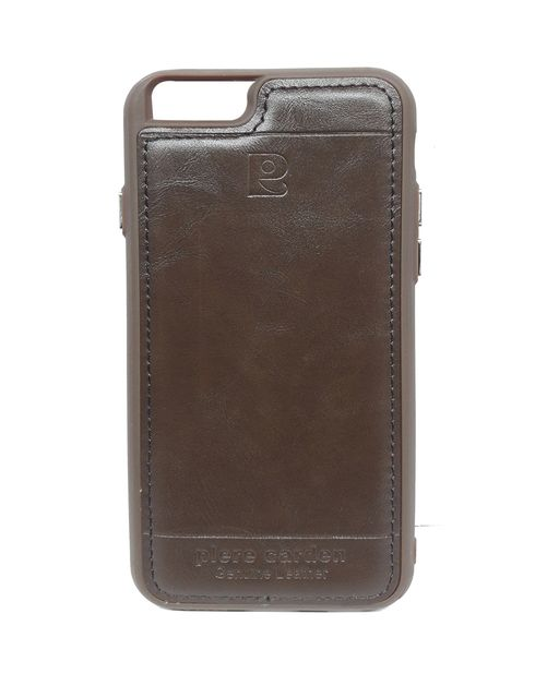 iphone 6 & 6s Pierre Cardin Luxury Back Lather Case (Brown)