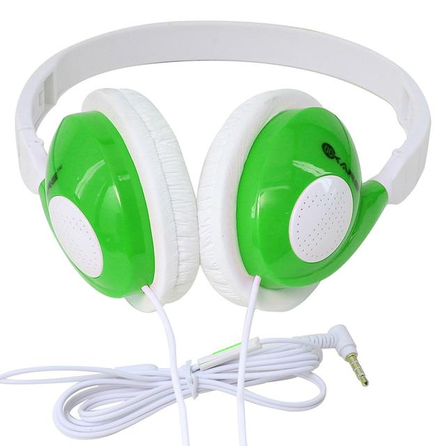 iKare Foldable Over Ear Easy Comfort Hi Fi Stereo Headphone Wired Stereo Microphone Headset-(Green)